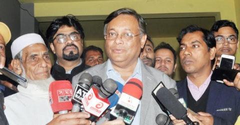 খালেদা জিয়ার মুক্তির দাবি জানিয়ে আইন-আদালতের প্রতি বৃদ্ধাঙ্গুলি প্রদর্শন করেছে বিএনপি : তথ্যমন্ত্রী